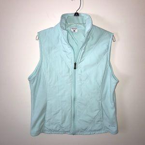 Columbia Fleece Turquoise Vest Size Large